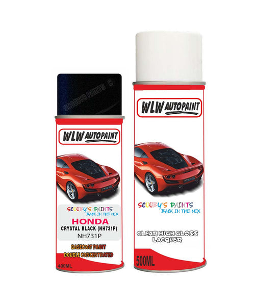 Honda Br-V Crystal Black Nh731P Car Aerosol Spray Paint With Lacquer 2008-2018