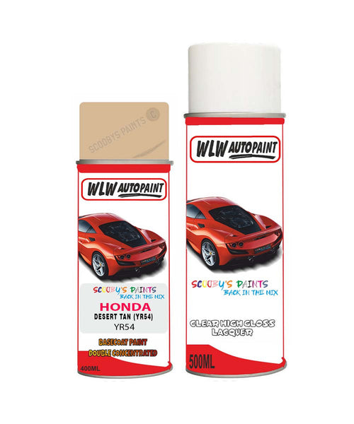 Honda Prelude Desert Tan Yr54 Car Aerosol Spray Paint + Lacquer