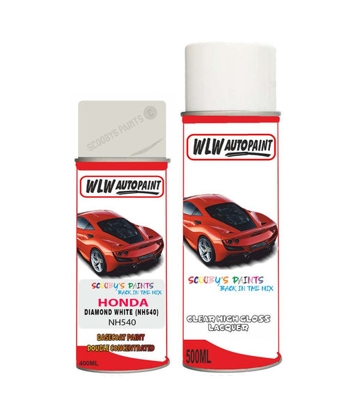 Honda Concerto Diamond White Nh540 Car Aerosol Spray Paint With Lacquer 1990-1995