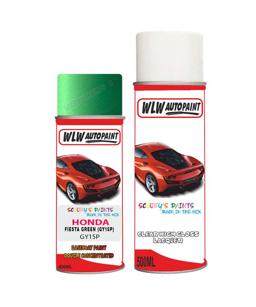Honda Crx Fiesta Green Gy15P Car Aerosol Spray Paint With Lacquer 1991-1995