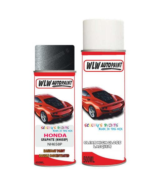 honda elysion graphite nh658p car aerosol spray paint with lacquer 2002 2011Body repair basecoat dent colour