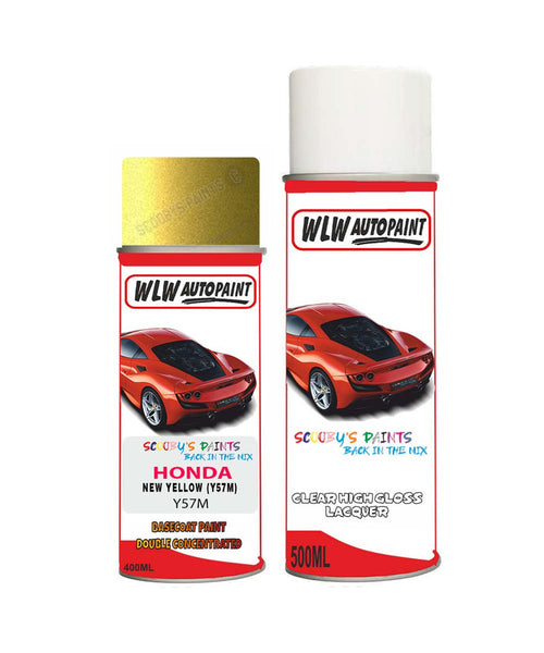 Honda Hrv New Yellow Y57M Car Aerosol Spray Paint With Lacquer 1999-2002
