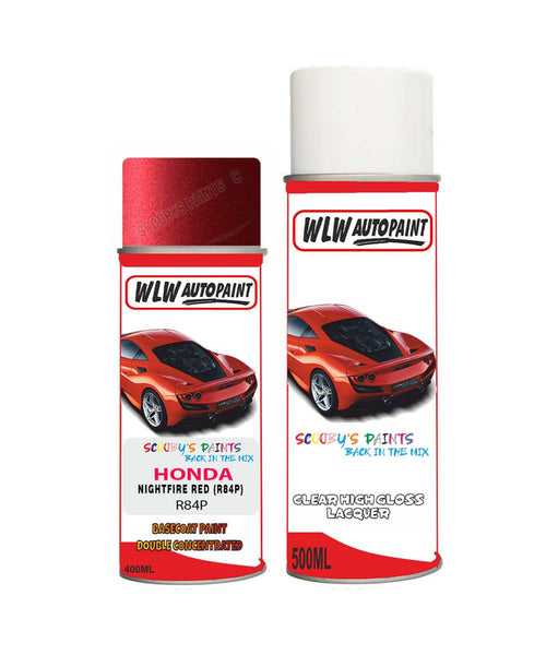 Honda Concerto Nightfire Red R84P Car Aerosol Spray Paint With Lacquer 1990-1995