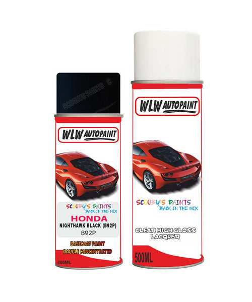 Honda Pilot Nighthawk Black B92P Car Aerosol Spray Paint + Lacquer
