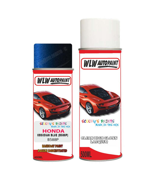 honda elysion obsidian blue b588p car aerosol spray paint with lacquer 2012 2018Body repair basecoat dent colour