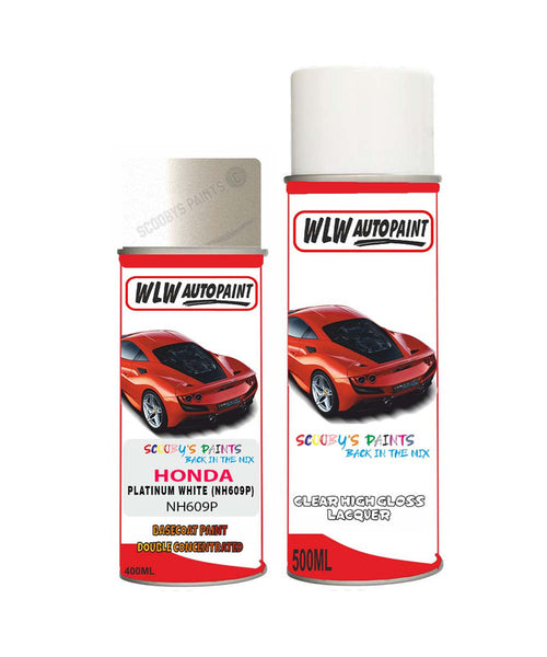 HONDA S2000 PLATINUM WHITE NH609P Car Aerosol Spray Paint With Lacquer 1997-2009
