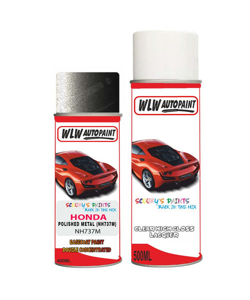 Honda Crz Polished Metal Nh737M Car Aerosol Spray Paint With Lacquer 2007-2018