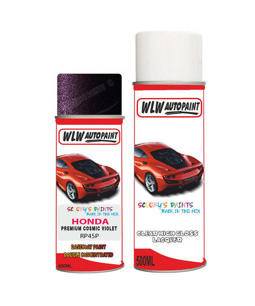 Honda Stepwagon Premium Cosmic Violet Rp45P Car Aerosol Spray Paint With Lacquer 2012-2013