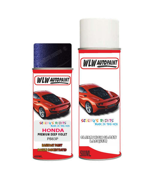 Honda Stepwagon Premium Deep Violet Pb83P Car Aerosol Spray Paint With Lacquer 2007-2014