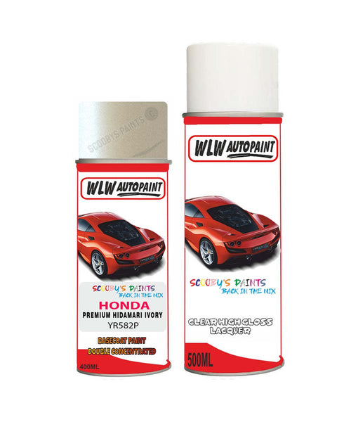 Honda Stepwagon Premium Hidamari Ivory Yr582P Car Aerosol Spray Paint With Lacquer 2009-2016