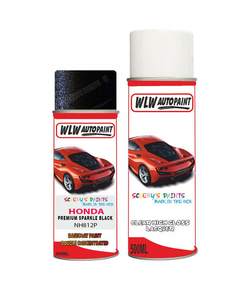 Honda Stepwagon Premium Sparkle Black Nh812P Car Aerosol Spray Paint With Lacquer 2012-2016