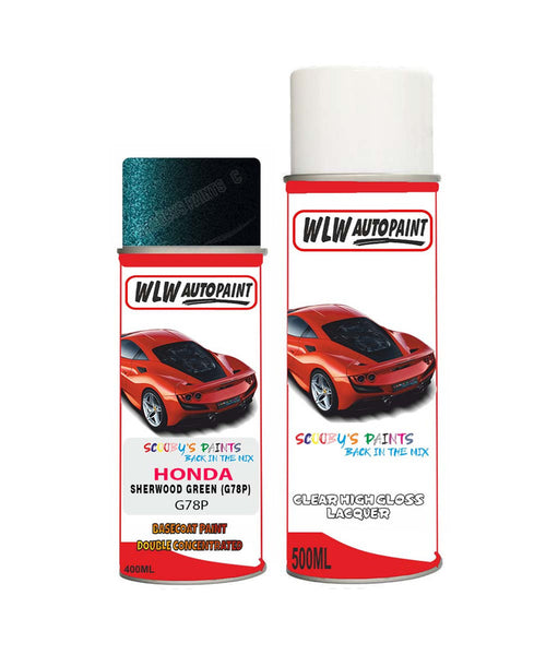 Honda Legend Sherwood Green G78P Car Aerosol Spray Paint With Lacquer 1993-2005