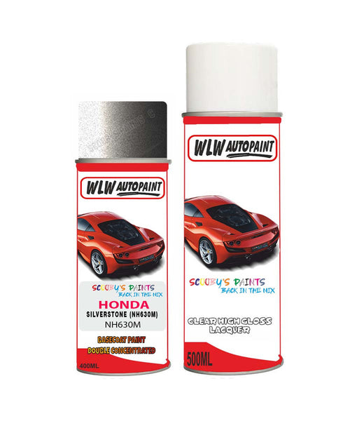 Honda City Silverstone Nh630M Car Aerosol Spray Paint With Lacquer 1999-2011