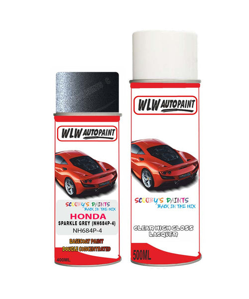 Honda Crz Sparkle Grey Nh684P-4 Car Aerosol Spray Paint With Lacquer 2004-2012