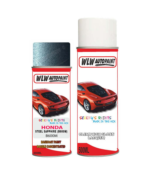 Honda Pilot Steel Sapphire B600M Car Aerosol Spray Paint + Lacquer