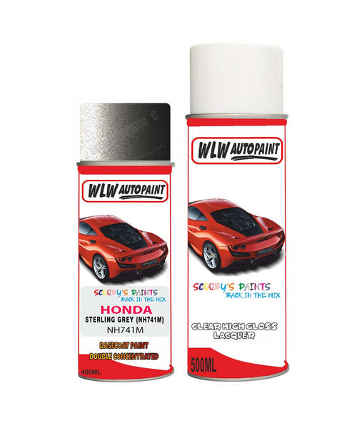 Honda Pilot Sterling Grey Nh741M Car Aerosol Spray Paint + Lacquer