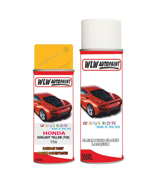 Honda Integra Sunlight Yellow Y56 Car Aerosol Spray Paint With Lacquer 1999-2014