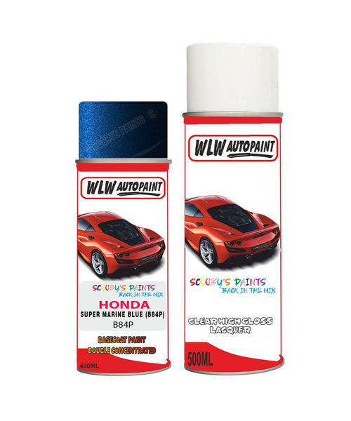 Honda Prelude Super Marine Blue B84P Car Aerosol Spray Paint + Lacquer