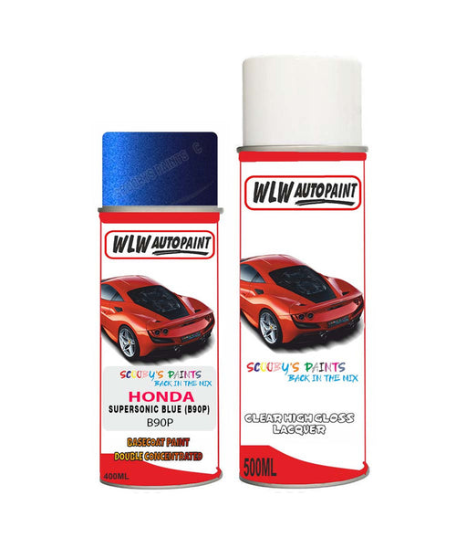 Honda Hrv Supersonic Blue B90P Car Aerosol Spray Paint With Lacquer 1998-2003