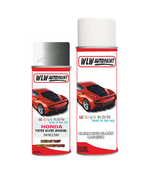 Honda Hrv Tinted Silver Nh823M Car Aerosol Spray Paint With Lacquer 2013-2017