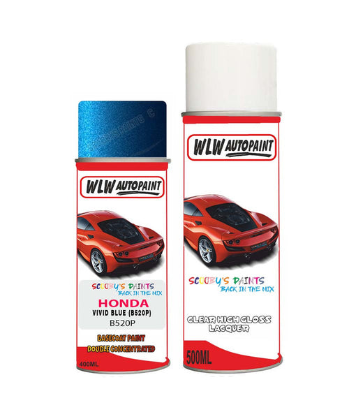 Honda Hrv Vivid Blue B520P Car Aerosol Spray Paint With Lacquer 2002-2010
