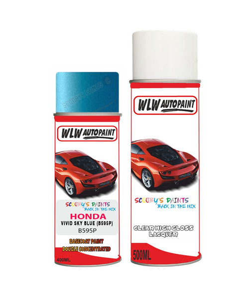 Honda City Vivid Sky Blue B595P Car Aerosol Spray Paint With Lacquer 2013-2017