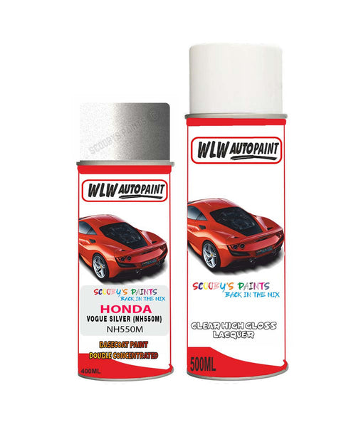 Honda Crx Vogue Silver Nh550M Car Aerosol Spray Paint With Lacquer 1990-2002