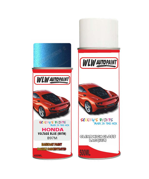 Honda Integra Voltage Blue B97M Car Aerosol Spray Paint With Lacquer 1999-2003
