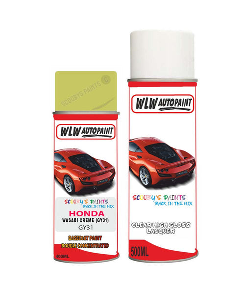Honda Freed Wasabi Creme Gy31 Car Aerosol Spray Paint + Lacquer