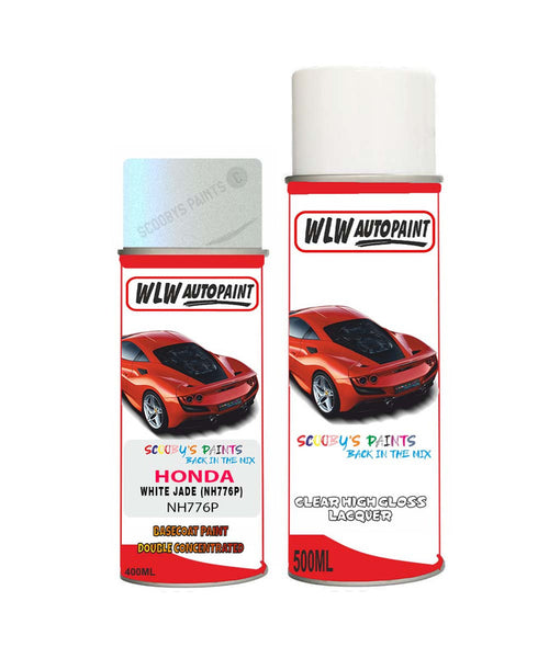 Honda Accord White Jade Nh776P Car Aerosol Spray Paint + Lacquer