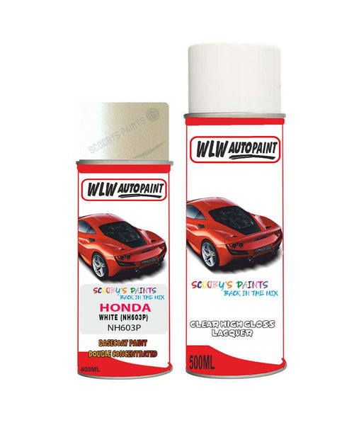 Honda Accord White Nh603P Car Aerosol Spray Paint + Lacquer