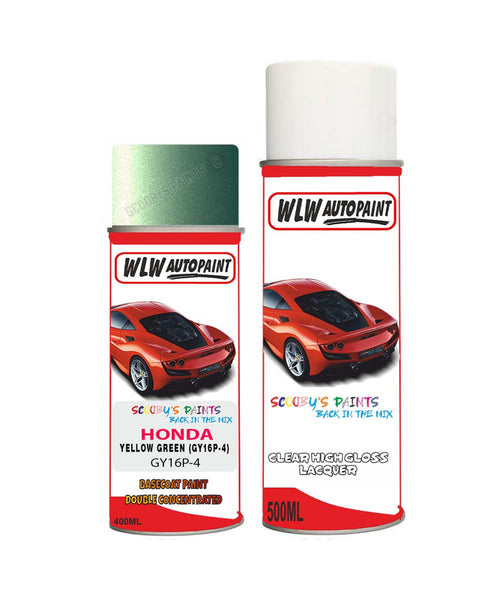 Honda Prelude Yellow Green Gy16P-4 Car Aerosol Spray Paint + Lacquer