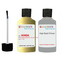 Honda Crz Premium Energetic Yellow Y71M Car Touch Up Paint Scratch Kit