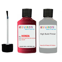 Honda Prelude Ruby (New Vivid) Red R504P Car Touch Up Paint Scratch Repair 1997-2016