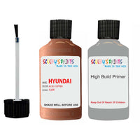 Hyundai Veloster Acid Copper X2W Car Touch Up Paint Scratch Repair 2016-2016