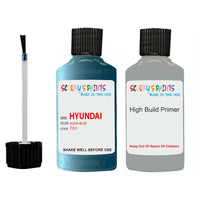 Hyundai I30 Aqua Blue R2U Car Touch Up Paint Scratch Repair
