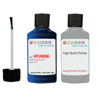 Hyundai I30 Atlantic Blue S7U Car Touch Up Paint Scratch Repair
