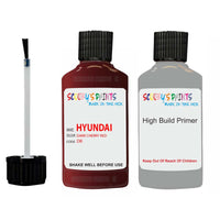 Hyundai Santa Fe Dark Cherry Red Dr Car Touch Up Paint Scratch Repair