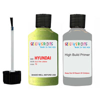 Hyundai I20 Electric Green Tk Car Touch Up Paint Scratch Repair 2008-2012