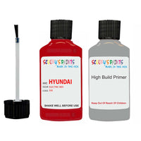 Hyundai I20 Electric Red H4 Car Touch Up Paint Scratch Repair