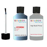 Hyundai I30 Ice Blue Xaf Car Touch Up Paint Scratch Repair