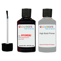Hyundai I30 Phantom Black Mzh Car Touch Up Paint Scratch Repair 2010-2020