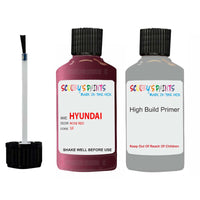 Hyundai Elantra Rose Red 5F Car Touch Up Paint Scratch Repair