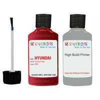 Hyundai Tucson Scarlet Red Xr5 Car Touch Up Paint Scratch Repair 2015-2020