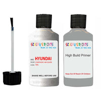 Hyundai Elantra Symphony Air Silver T8S Car Touch Up Paint Scratch Kit