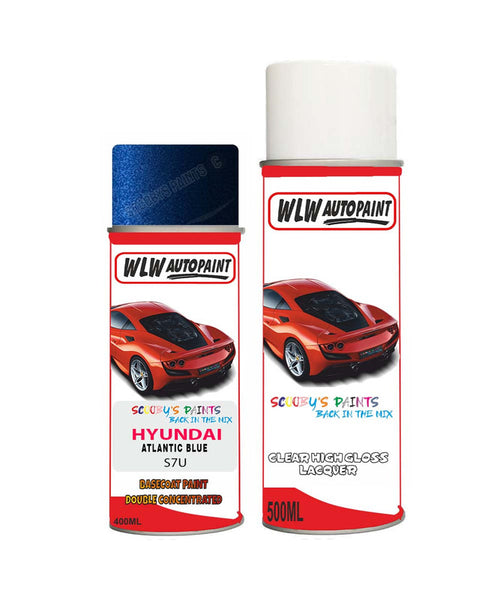 Hyundai Ix25 Atlantic Blue S7U Car Aerosol Spray Paint + Lacquer
