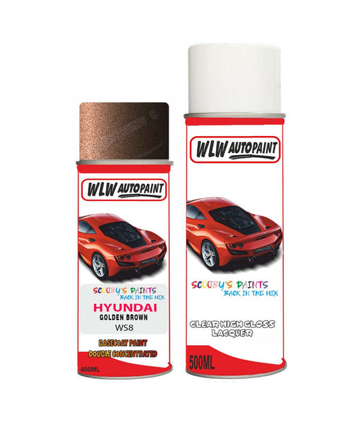 Hyundai Ix25 Golden Brown Ws8 Car Aerosol Spray Paint + Lacquer
