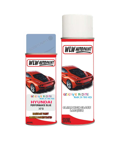 Hyundai I30 Performance Blue Xfb Car Aerosol Spray Paint + Lacquer