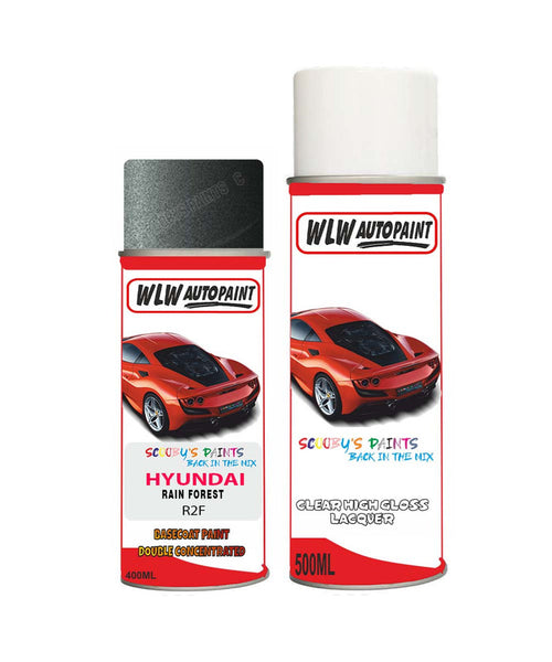 Hyundai Palisade Rain Forest R2F Car Aerosol Spray Paint + Lacquer