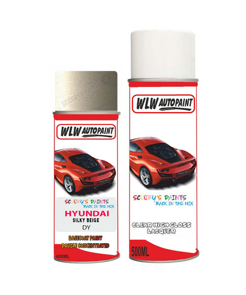 Hyundai Mistra Silky Beige Dy Car Aerosol Spray Paint With Lacquer 2013-2015